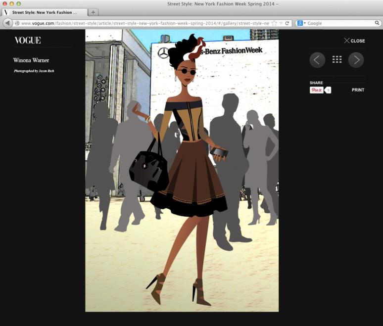 Vogue page